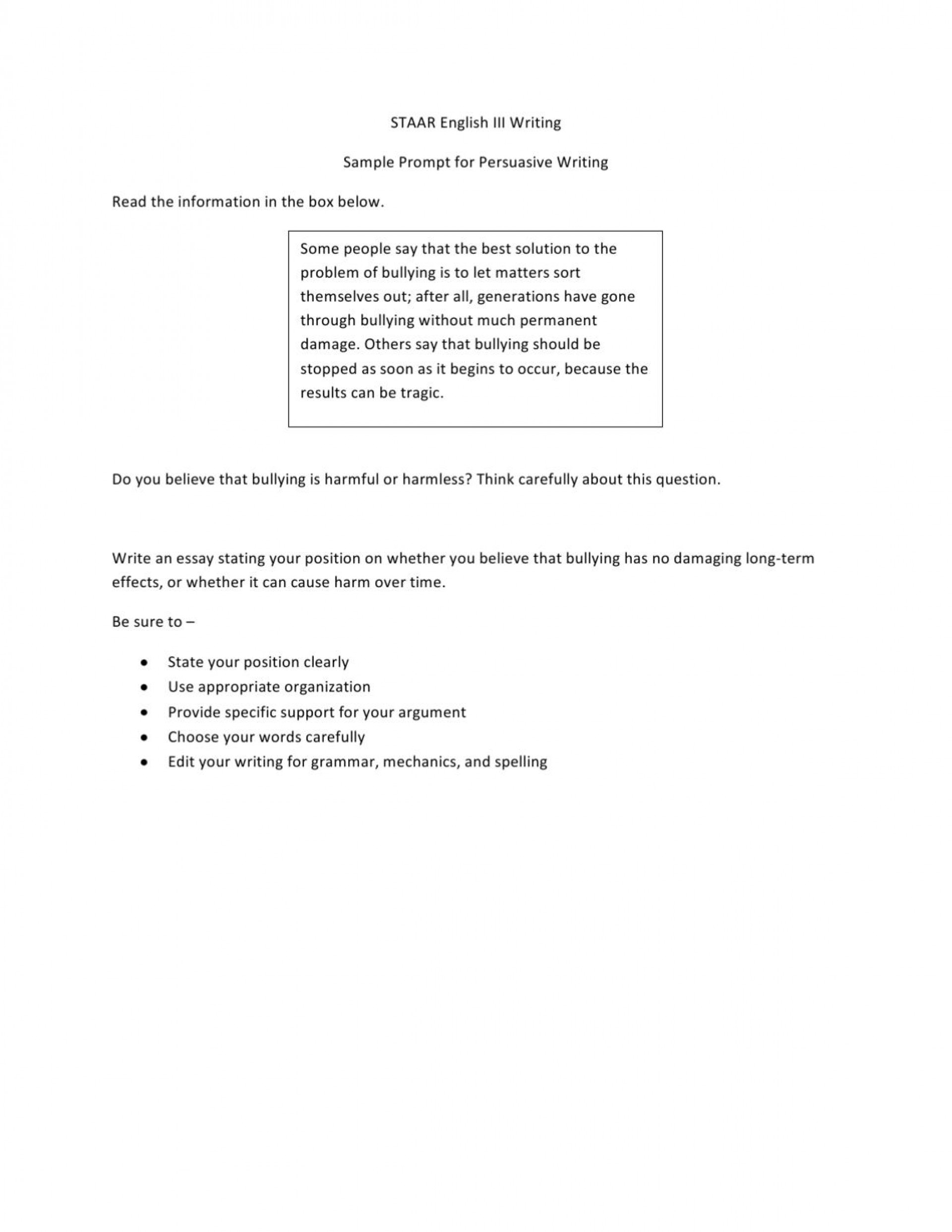 006 Staar Persuasive Essay Prompts Page 10 Dreaded Writing 10th Grade English 2 2015 1920