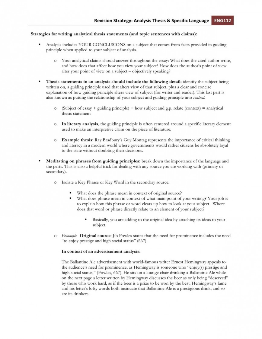 006 Strategiesforwritinganalyticalthesisstatements Essay Example Phenomenal Eslrs 868