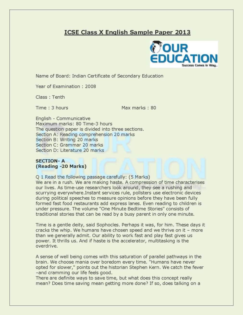 006 Teen Pregnancy Essay Icse 10th English Question Papers Amazing Teenage Pdf Body Introduction In The Philippines Full