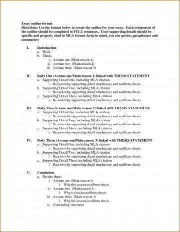 006 Template Essay Outline Example Excellent Mla Argumentative High School Research Paper Pdf 360