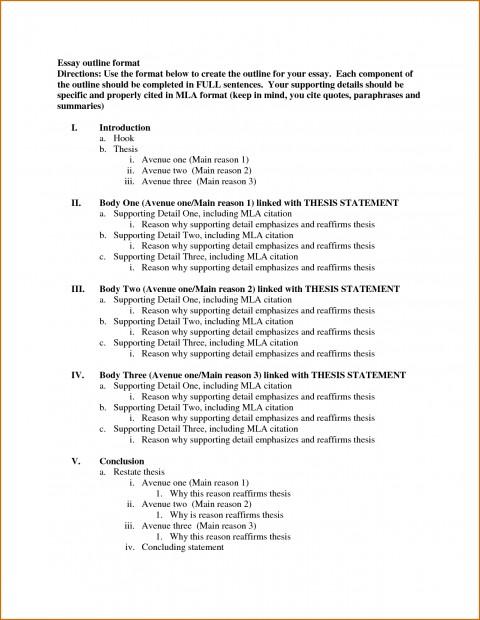 006 Template Essay Outline Example Excellent Mla Argumentative High School Research Paper Pdf 480