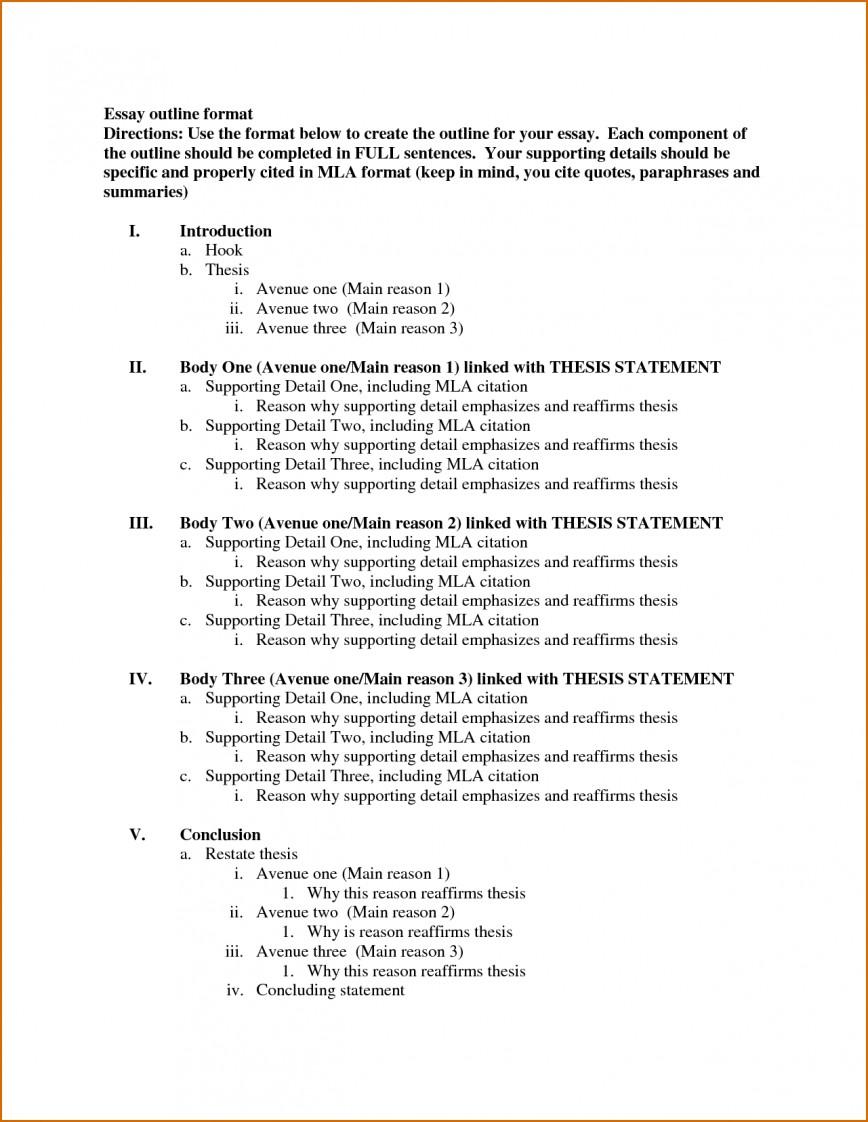 006 Template Essay Outline Example Excellent Mla Argumentative High School Research Paper Pdf 868