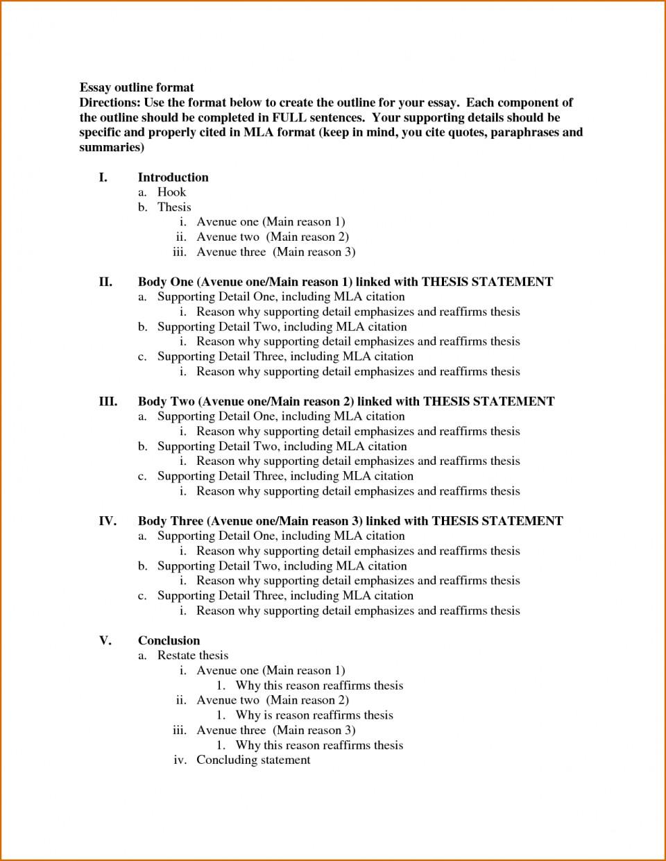 006 Template Essay Outline Example Excellent Mla Argumentative High School Research Paper Pdf 960