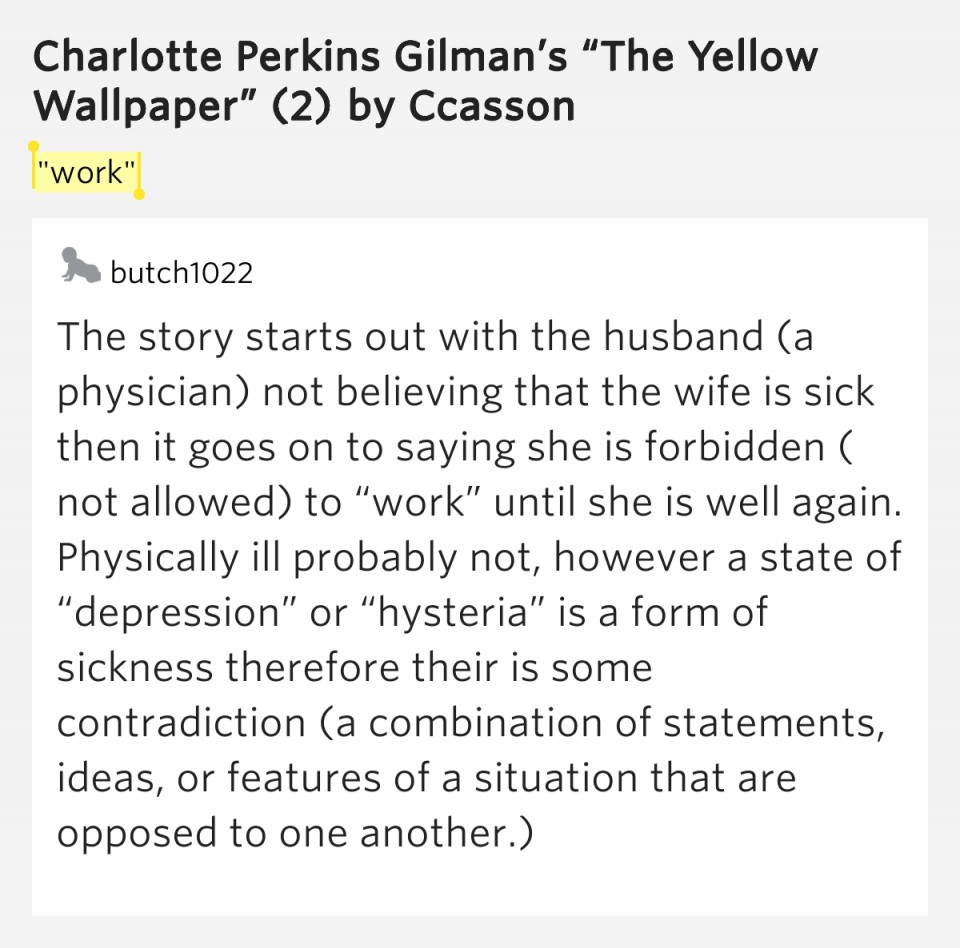 006 The Yellow Wallpaper Essay Example Top Feminism Questions Conclusion 960