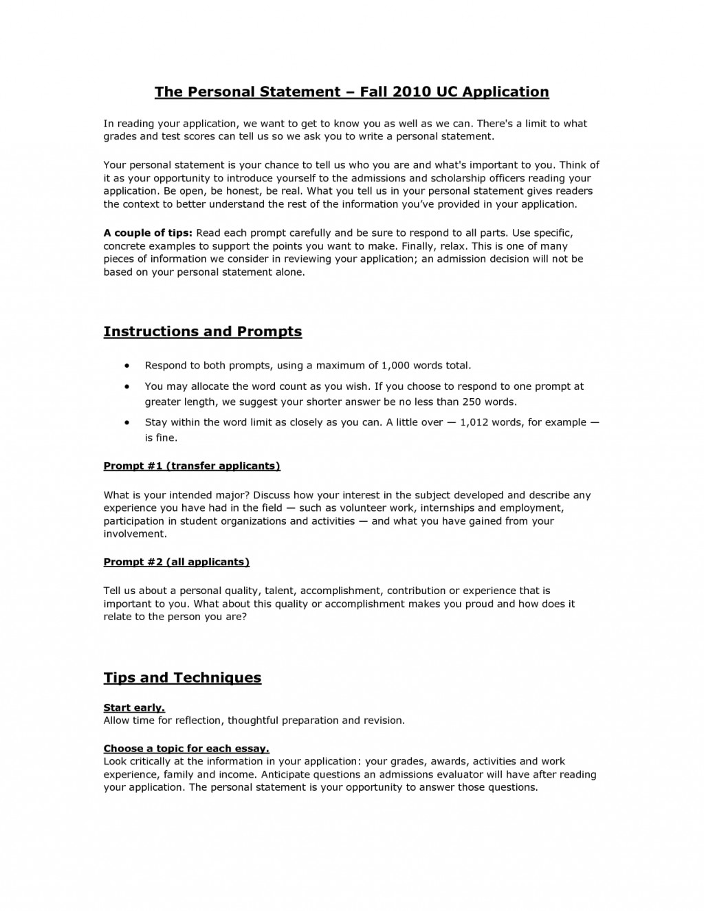 006 Uc Essay Prompts Example Transfer Cover Letter Essays Application Examples Personal Statement Iip Imposing 2017 Boulder Prompt Davis Large