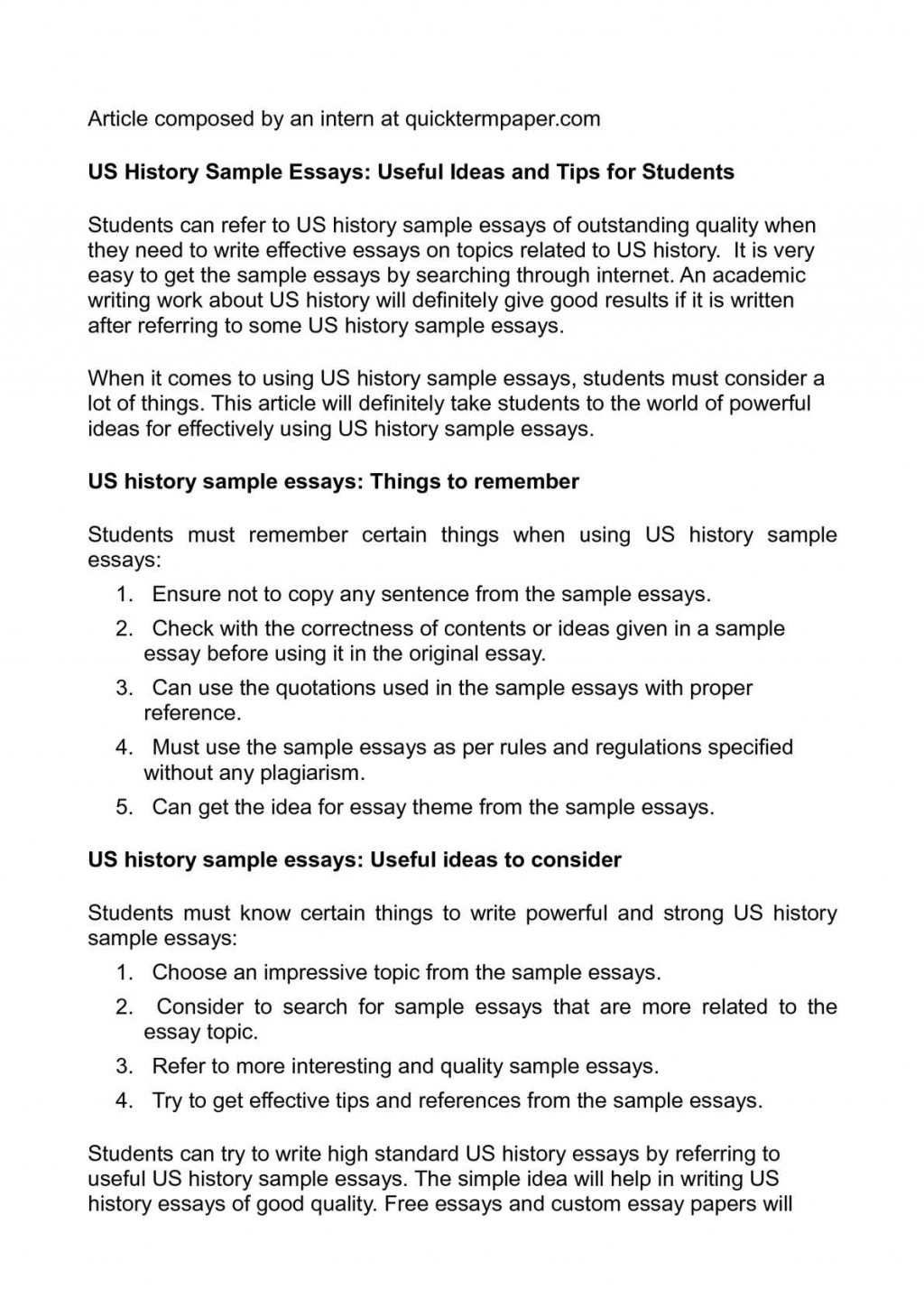 006 Us History Essay Topics P1 Rare Regents Thematic Review Extended Large