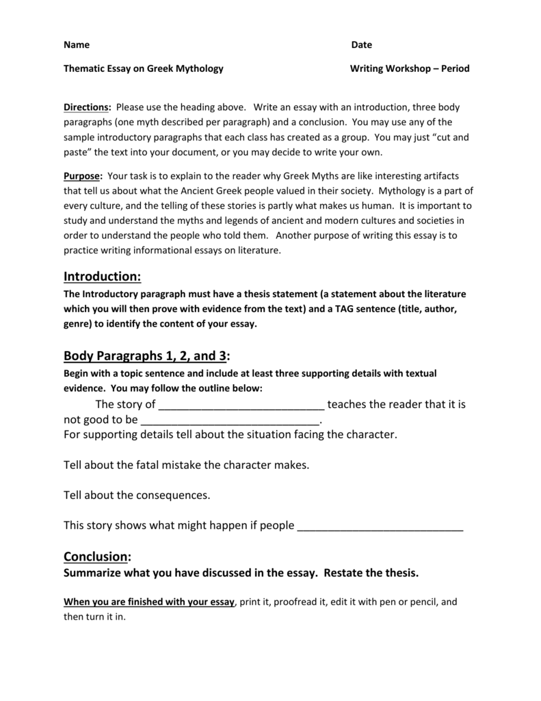 007 006654670 1 Thematic Essay Fearsome Photo Examples Rubric Analysis Template Full