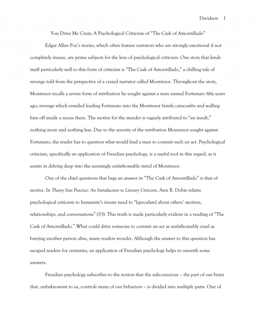 007 008304087 1 Essay Example The Cask Of Unforgettable Amontillado Topics Conclusion Large