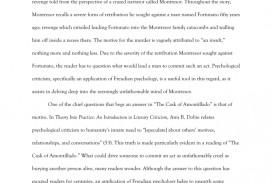 007 008304087 1 Essay Example The Cask Of Unforgettable Amontillado Topics Conclusion