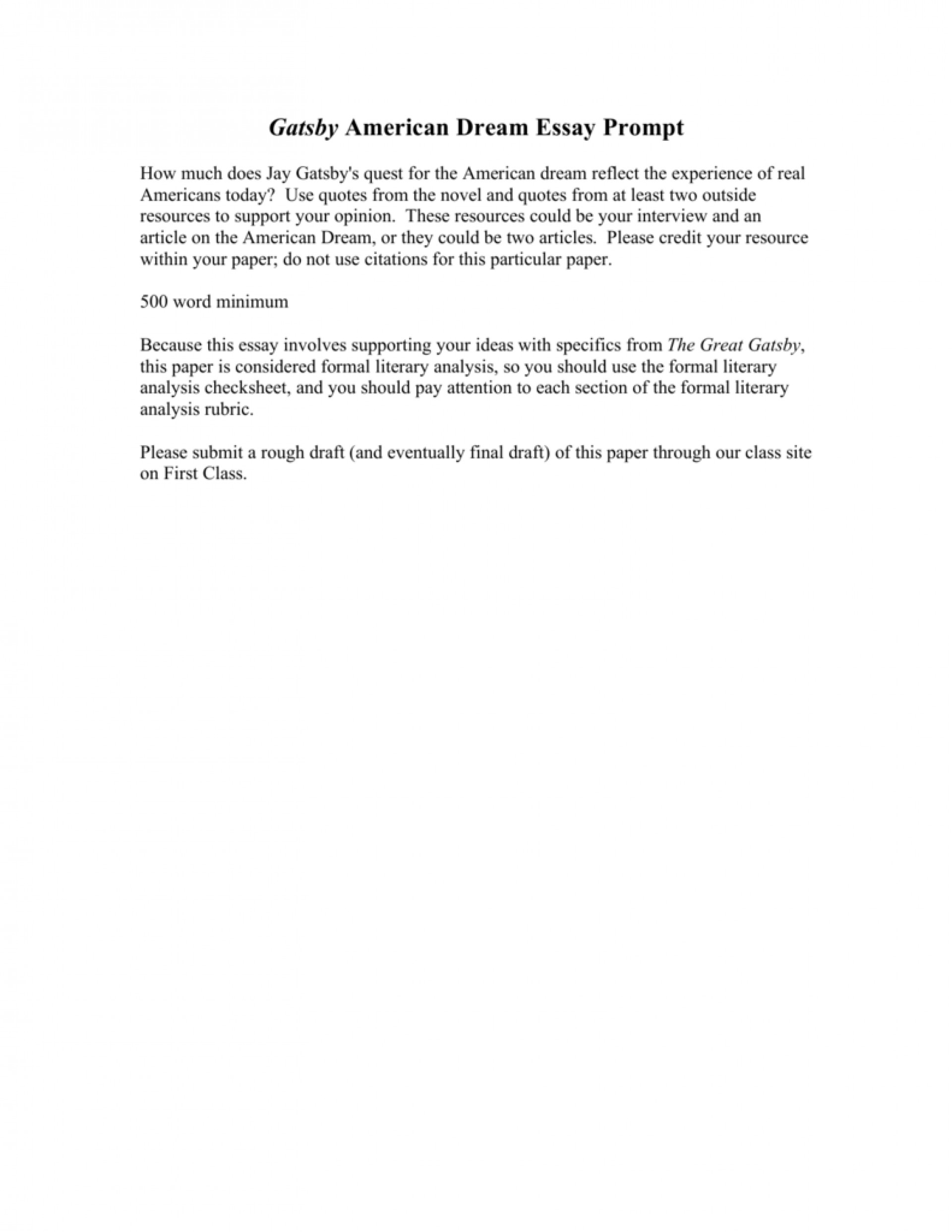 007 008810006 1 Essay Example Great Gatsby American Fantastic Dream Conclusion The Pdf Free 1920