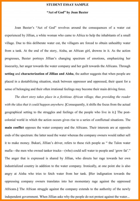 007 Act Practice Essay Example An Professional Homework ...