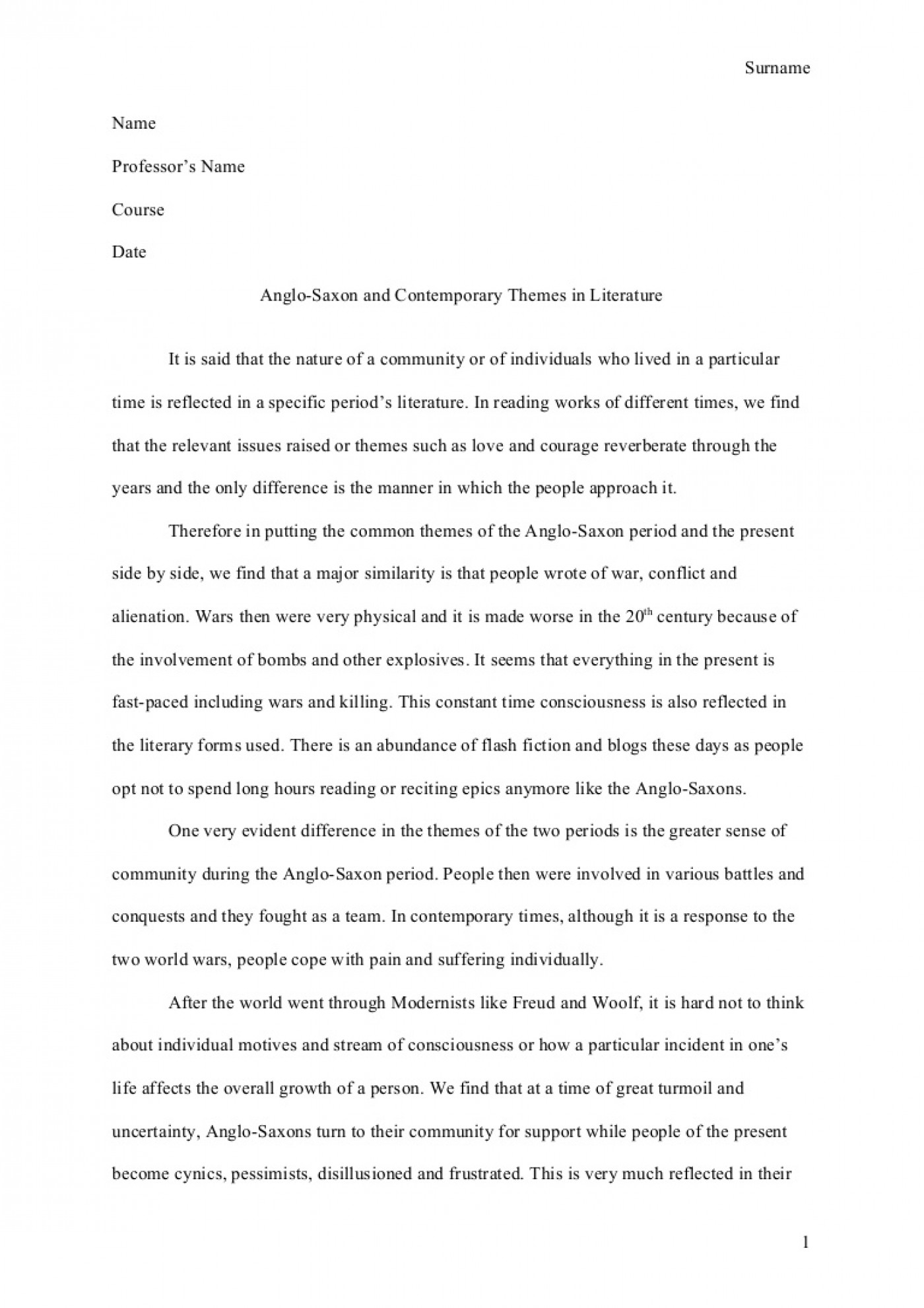 English Example Essay  What Is The Thesis Of A Research Essay also English Literature Essay Structure  Essay Example Apa  Thatsnotus Essay Term Paper