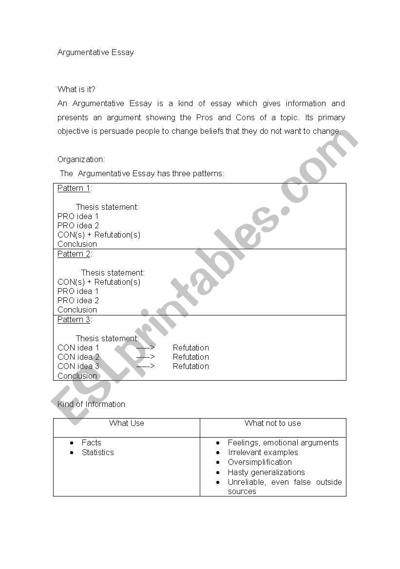 007 Argumentative Essay Esl Worksheet By Pixulina What Is An Ppt 578260 1 Brainly Definition Pdf Outlinet Topics And Its Parts Example Frightening Powerpoint Presentation Slides For Middle School Full