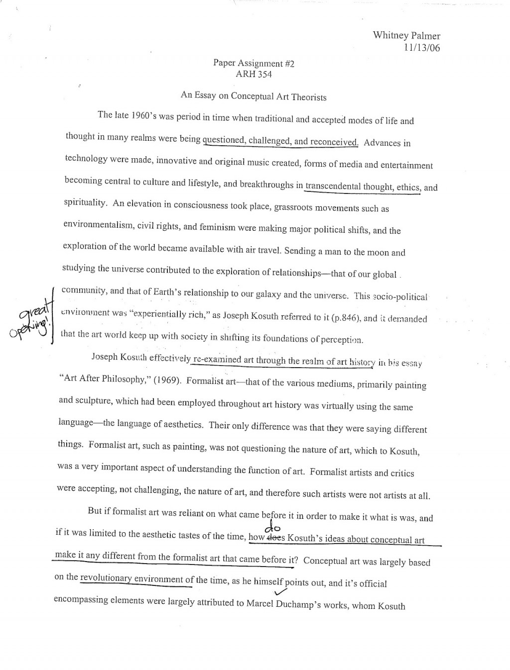 007 Art Essay Page Phenomenal History Introduction Pop Conclusion Outline Large