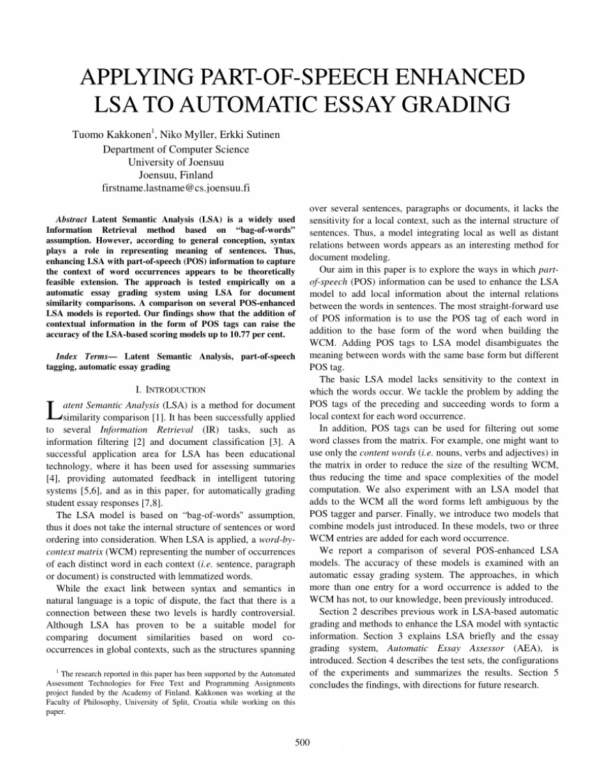 007 Automatic Essay Grader Free Example Singular 868