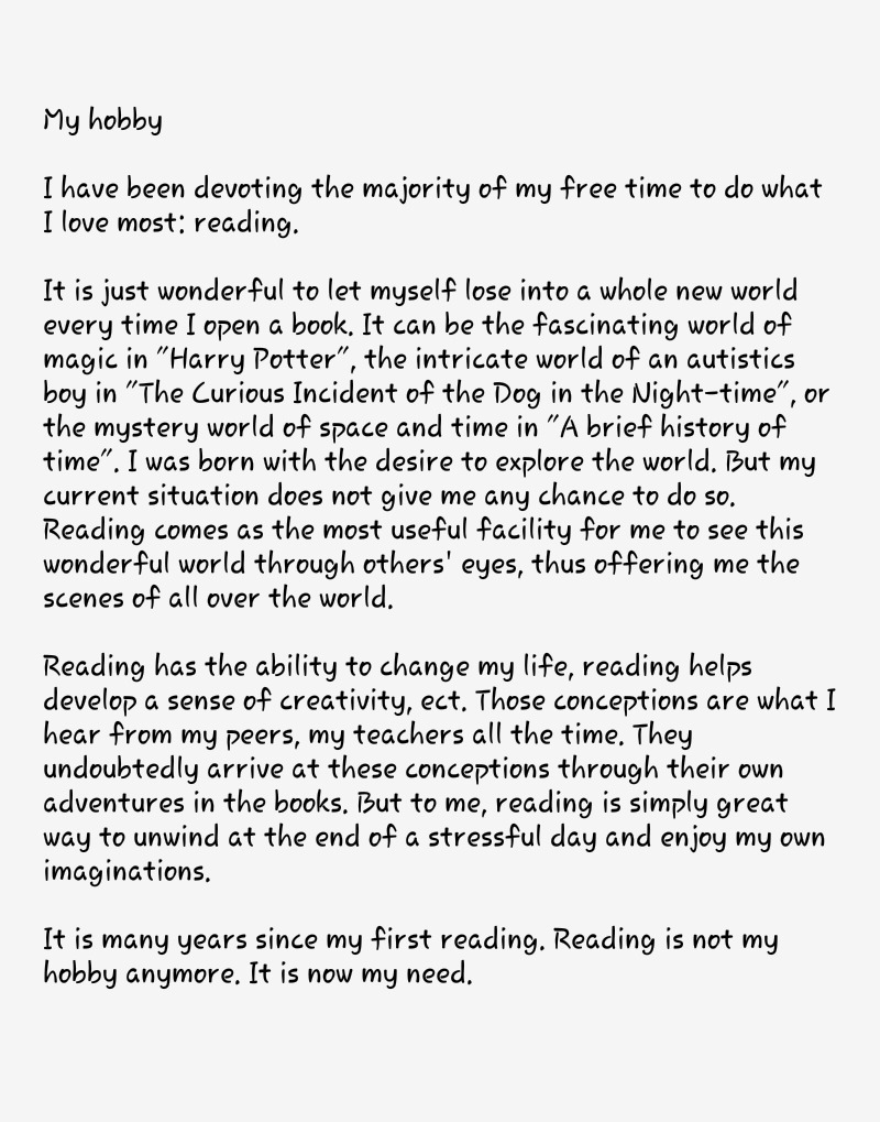 007 Books And Reading Essay Example Outstanding Benefits Of Book In English On For Class 6 My Hobby Full