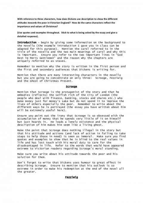 007 Christmas Essay Achristmascarol Writingguide Phpapp01 Thumbnail Stupendous Writing Contest Conclusion 480
