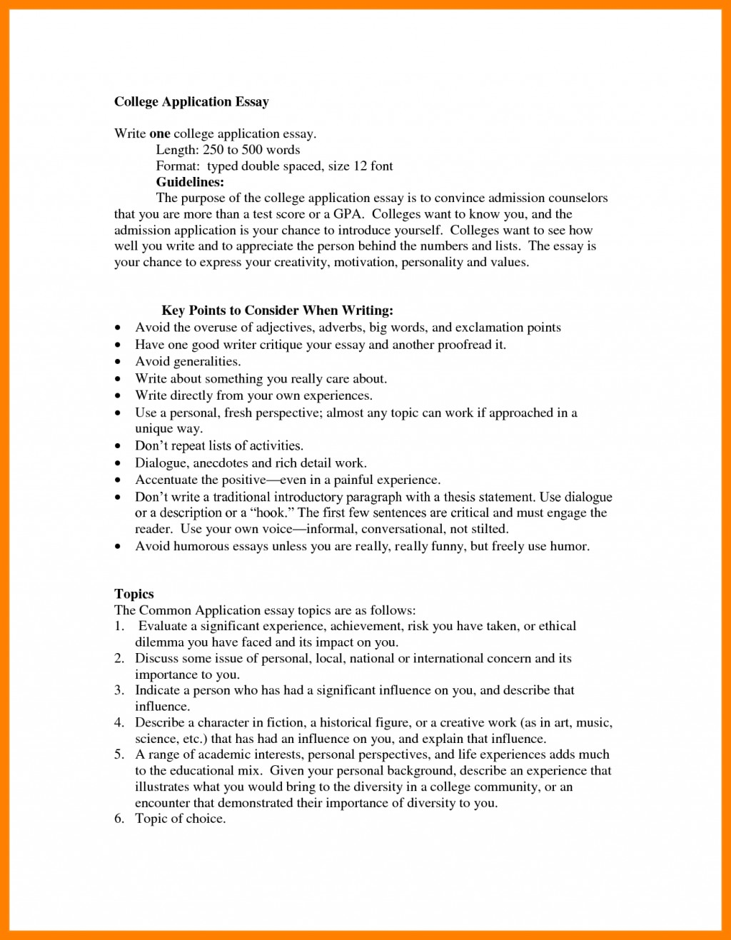 007 College Admission Essay Format Of Application Example Template Com Guidelines Sample Heading Awesome Examples Large