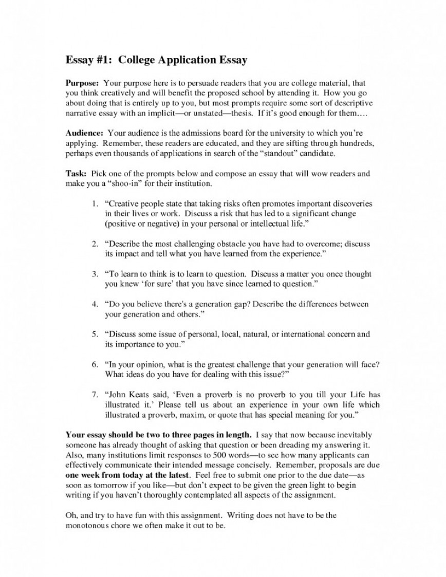 007 College Application Essay 791x1024 What Not To Write About In Frightening Things Your Admissions 868