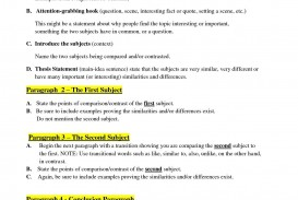 007 Compare And Contrast Essay Frightening Outline 4th Grade Examples 320