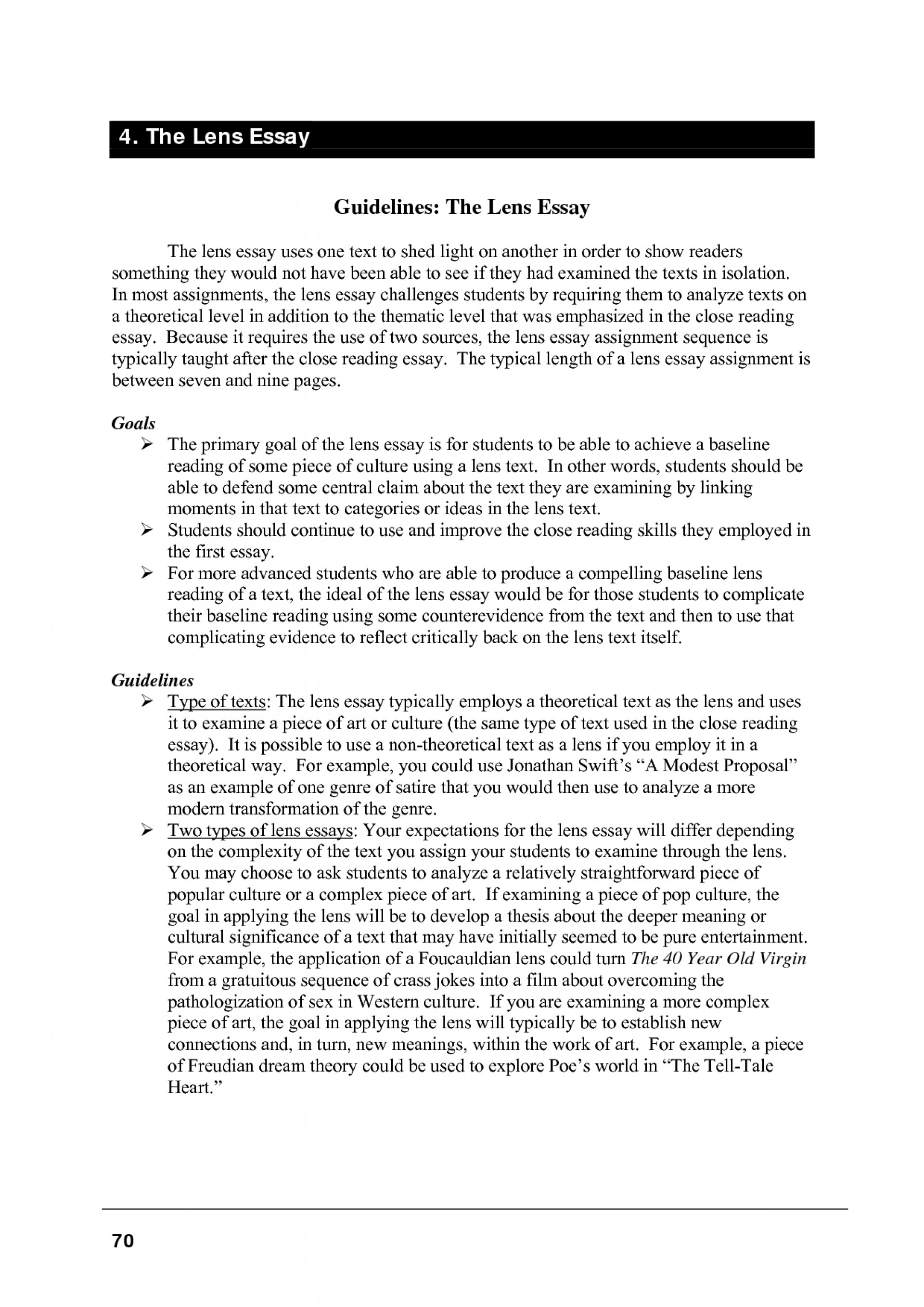 007 critical lens essay outline format 130083 example how to write
