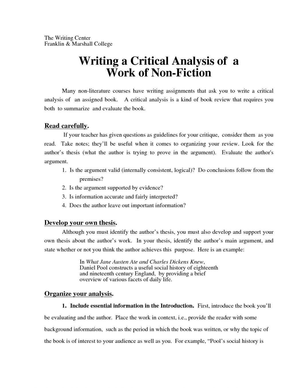 Apa style of writing critical essay
