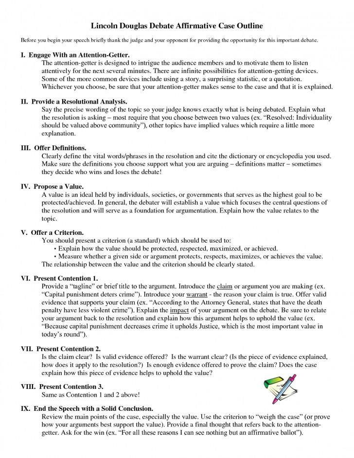 007 Debate Essay Topics Example Lincoln Douglas Affirmative Marvelous Prompts Persuasive High School 728