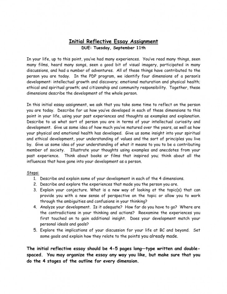 007 Essay Example 008579814 1 Amazing Reflective Rubric Doc Format Apa Examples About Writing 728