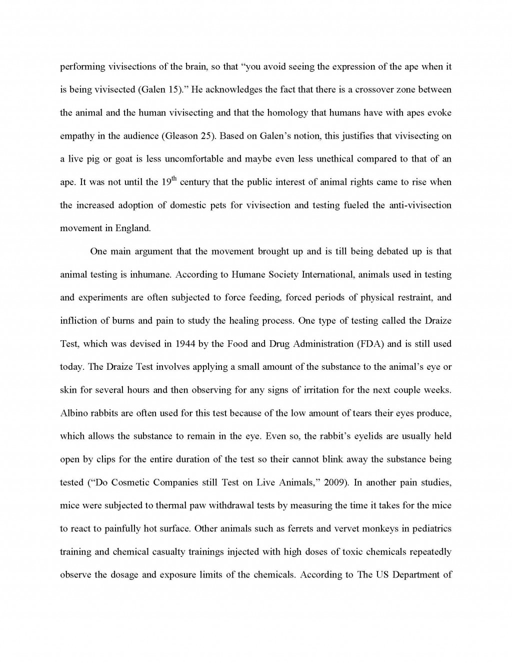 007 Essay Example Against Animal Testing Final Page 2 Imposing Titles Persuasive Conclusion Large