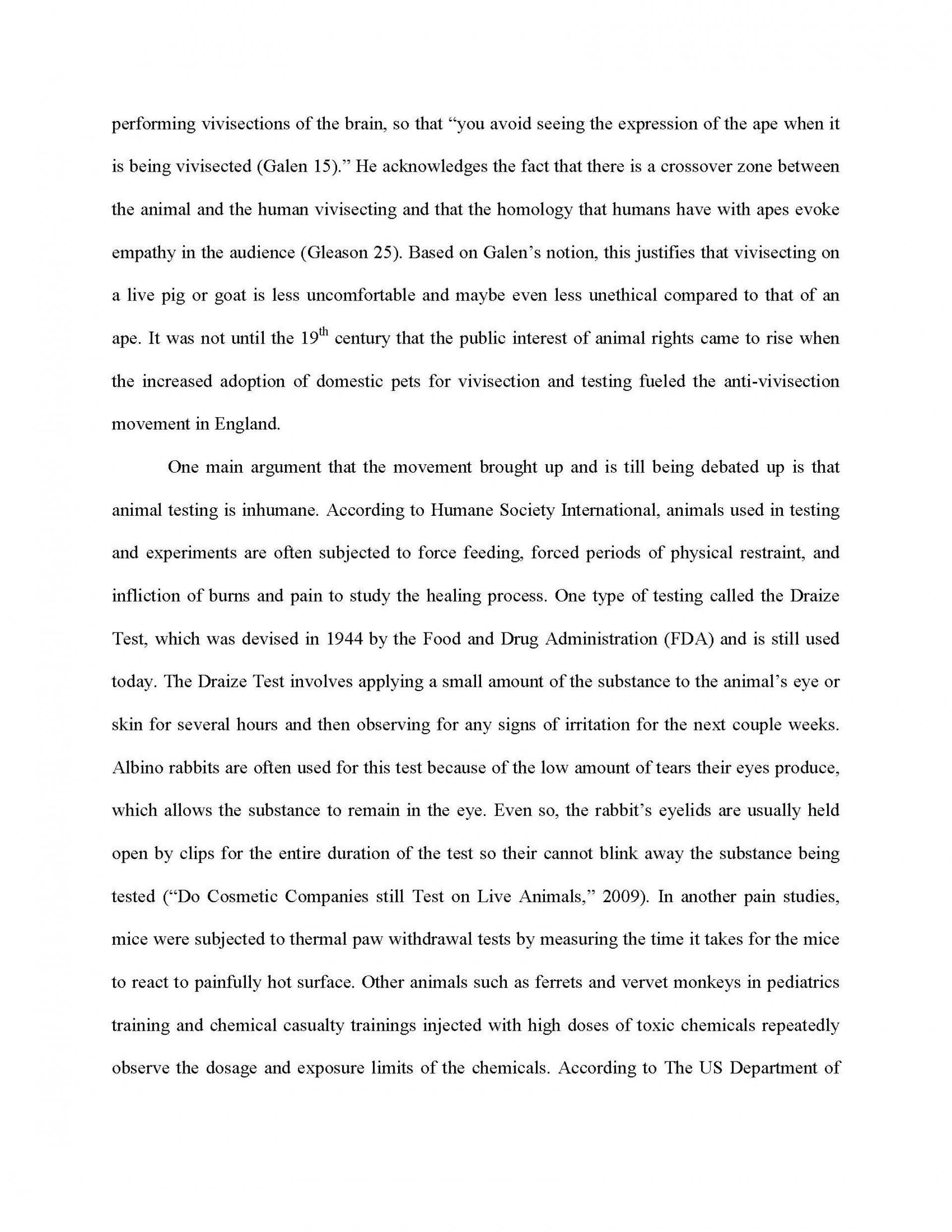 007 Essay Example Against Animal Testing Final Page 2 Imposing Titles Persuasive Conclusion 1920