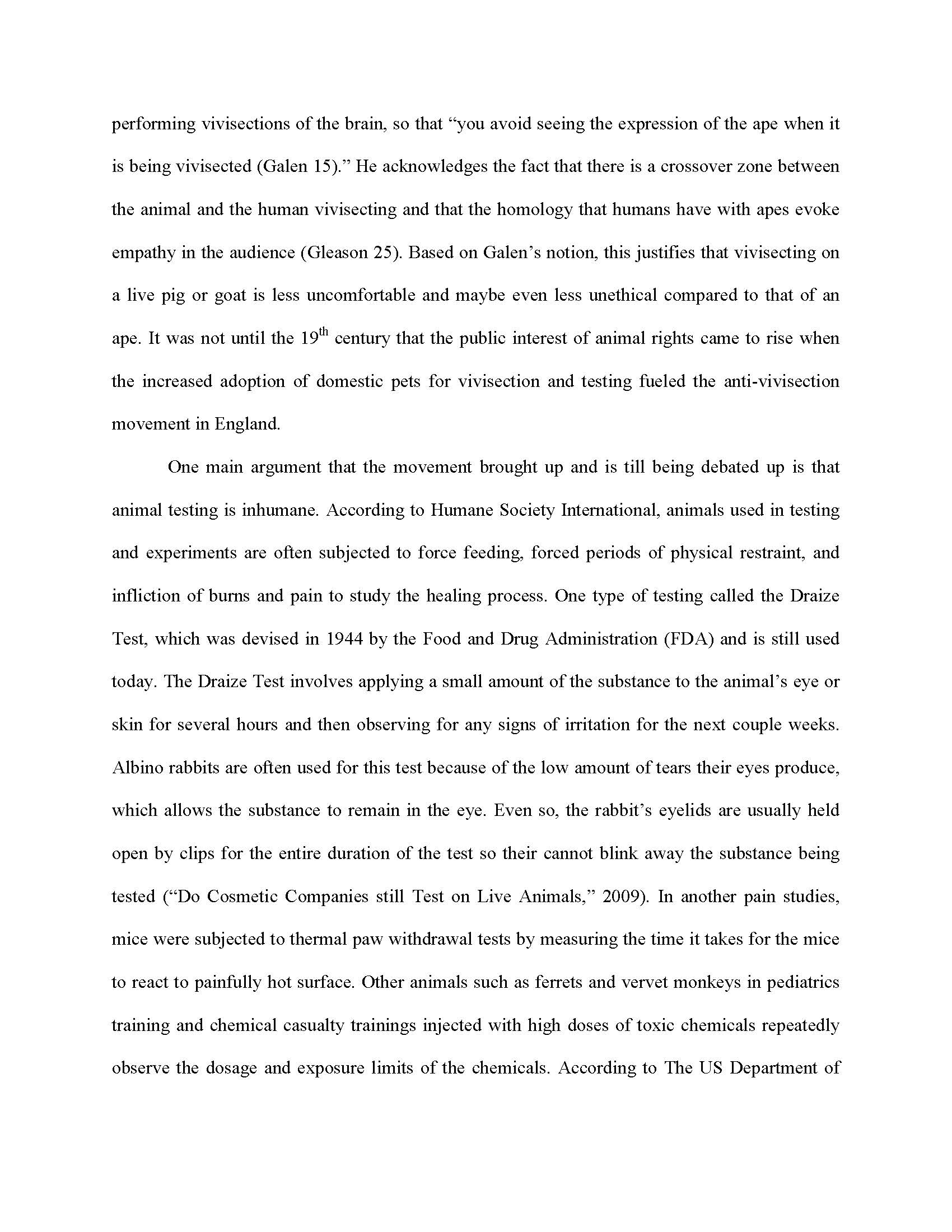 007 Essay Example Against Animal Testing Final Page 2 Imposing Introduction Persuasive Titles Full