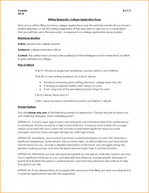 007 Essay Example Application Format College Admissions L Stirring Heading Common Graduate School 480