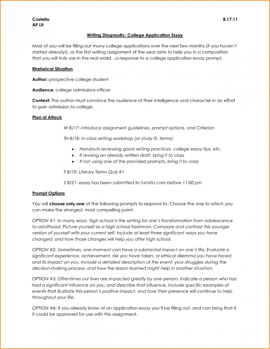 007 Essay Example Application Format College Admissions L Stirring Heading Common Graduate School 868