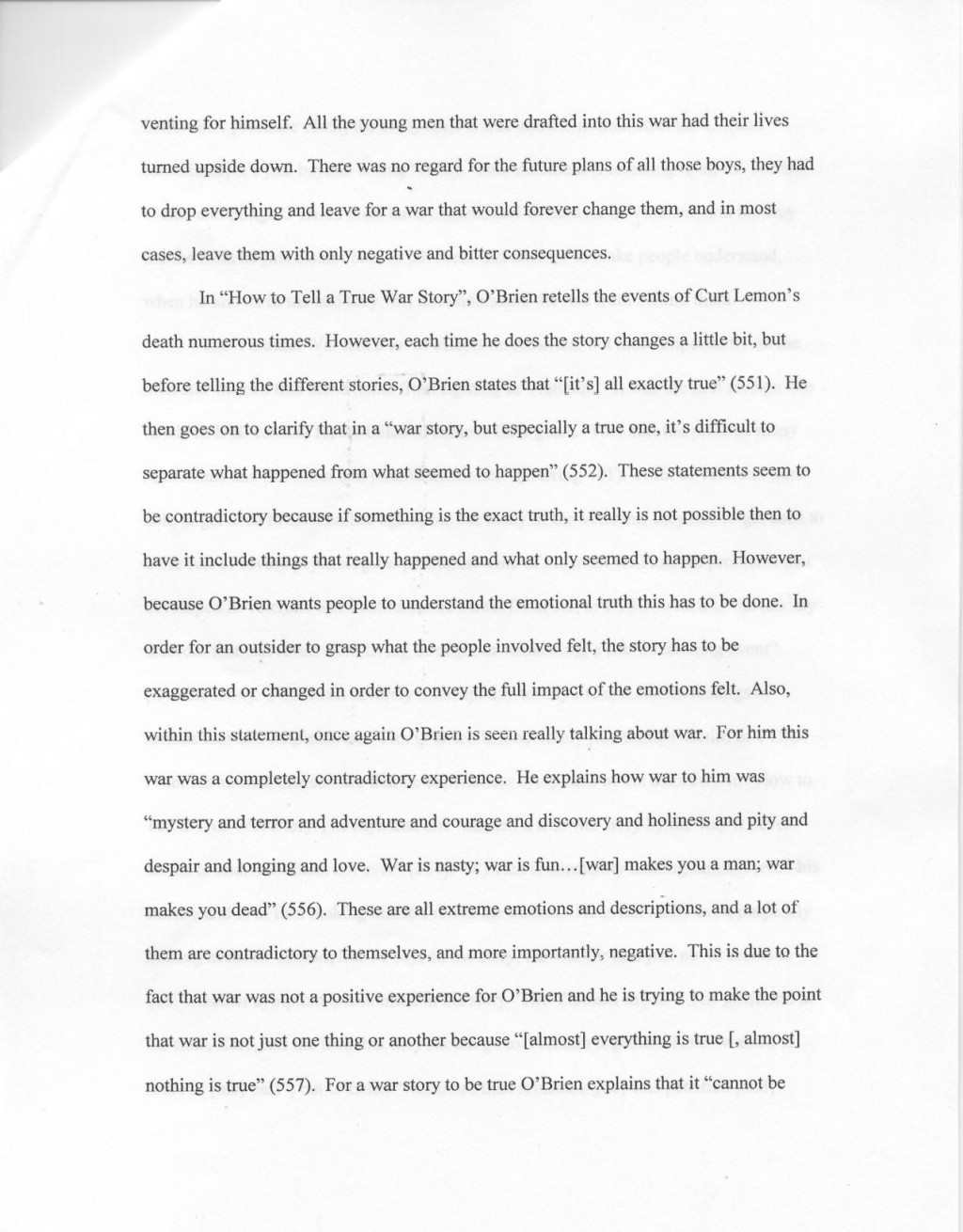 007 Essay Example Ess2ex1 3 Awful 4 Page Structure Format In Hours Large