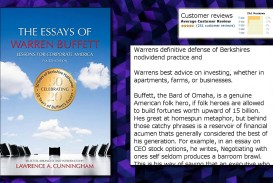 007 Essay Example Essays Of Warren Buffett Top 4th Edition The Pdf Free
