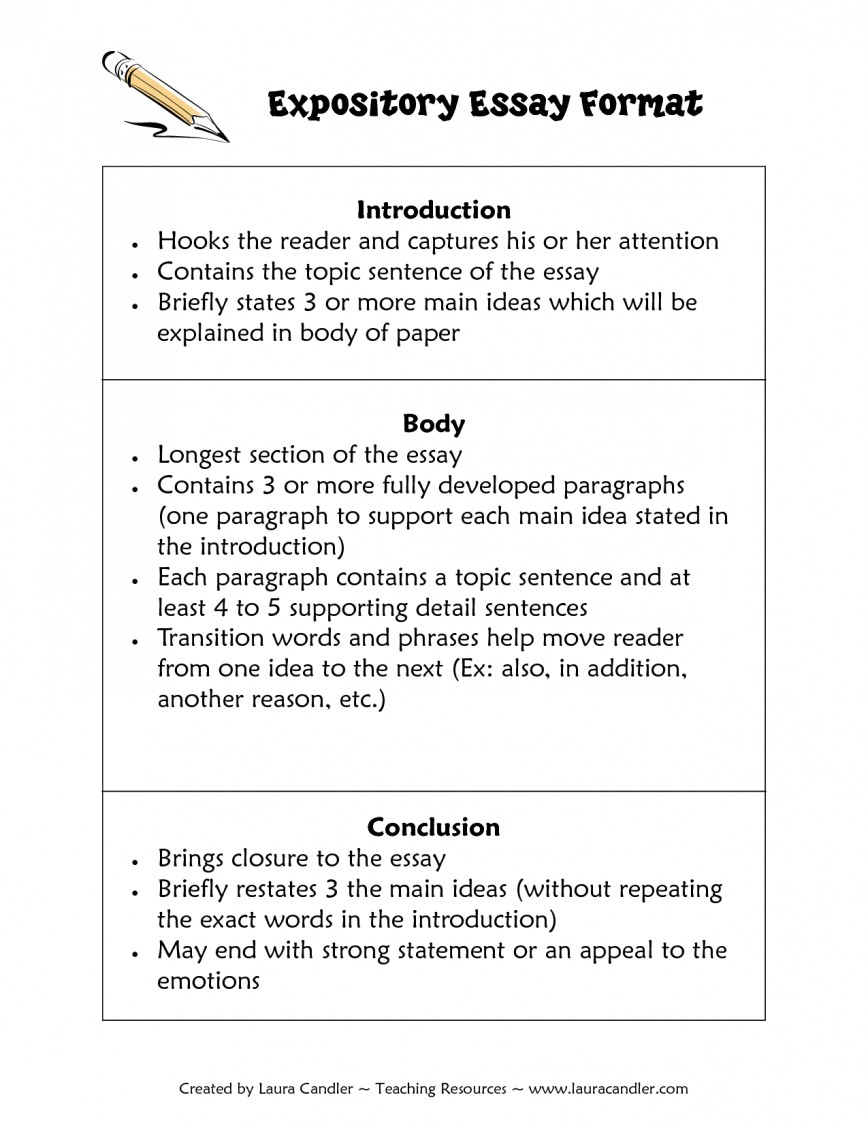 007 Essay Example Expository Format How To Write An Frightening Informational Explanatory Introduction Informative 3rd Grade 5th