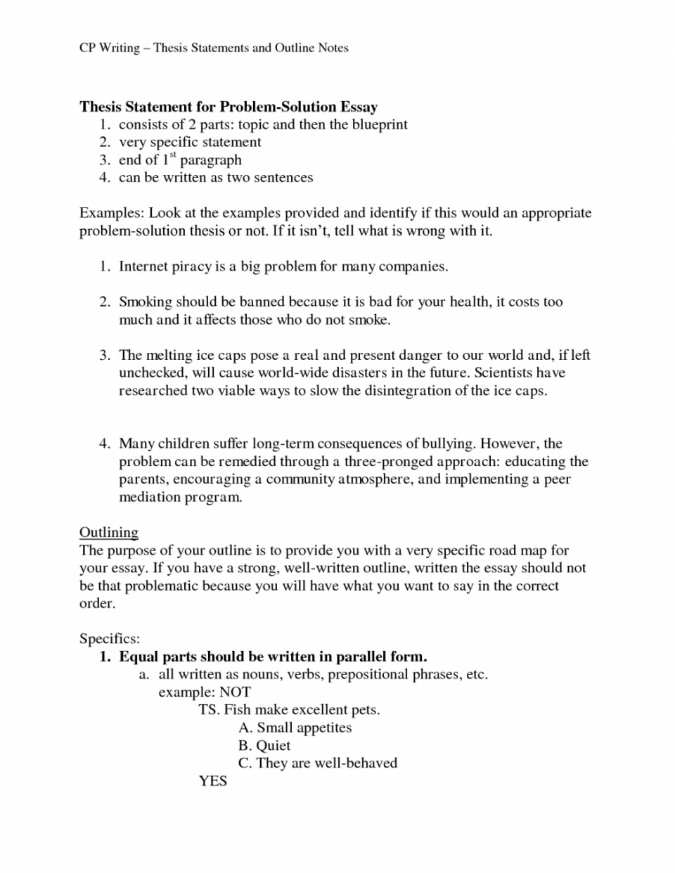 Problem and solution essay format