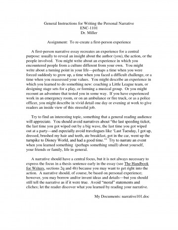 007 Essay Example Free College Personal Statement Samples Narrative L What Is Breathtaking A Writing In Third Person 5th Grade And Their Examples 360