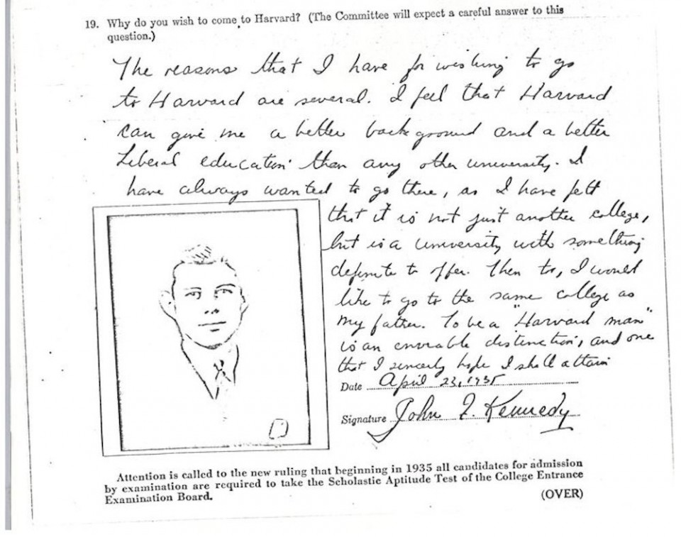 007 Essay Example Harvard Acceptance Essays John Kennedy Jfk University Application Frightening 50 Successful Pdf Free 2017 3rd Edition 960