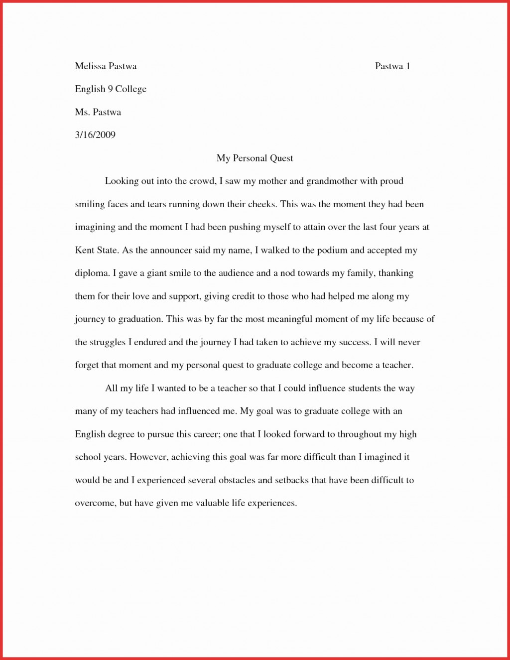 007 Essay Example Higher English Imaginative Ideas Narrative Personal Examples Best College Creative O Side Response Writing Nonfiction Pdf Phenomenal Advanced Large