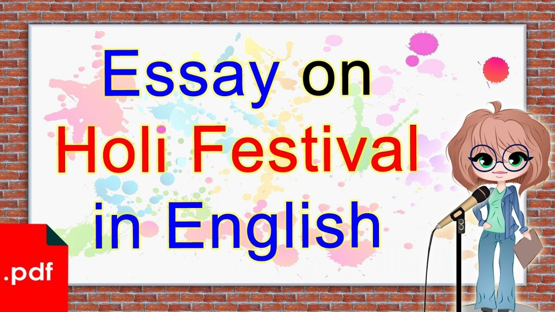 007 Essay Example Holi In English Breathtaking For Class 1 10 Lines Easy 1920