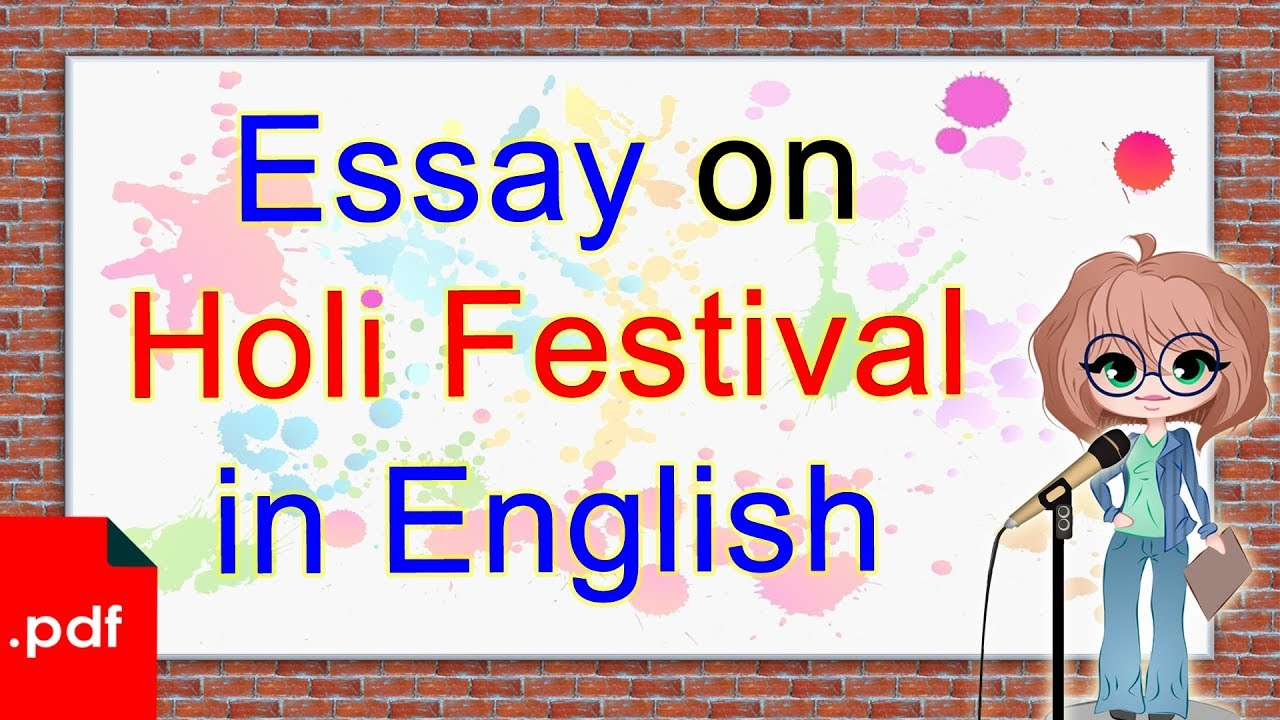 007 Essay Example Holi In English Breathtaking For Class 1 10 Lines Easy Full
