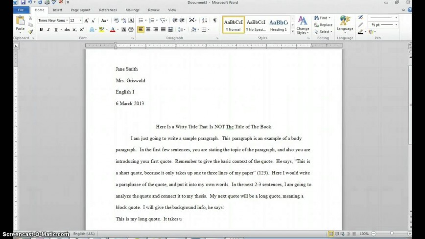 007 Essay Example How To Use Quote In An Impressive A Partial Famous From Website