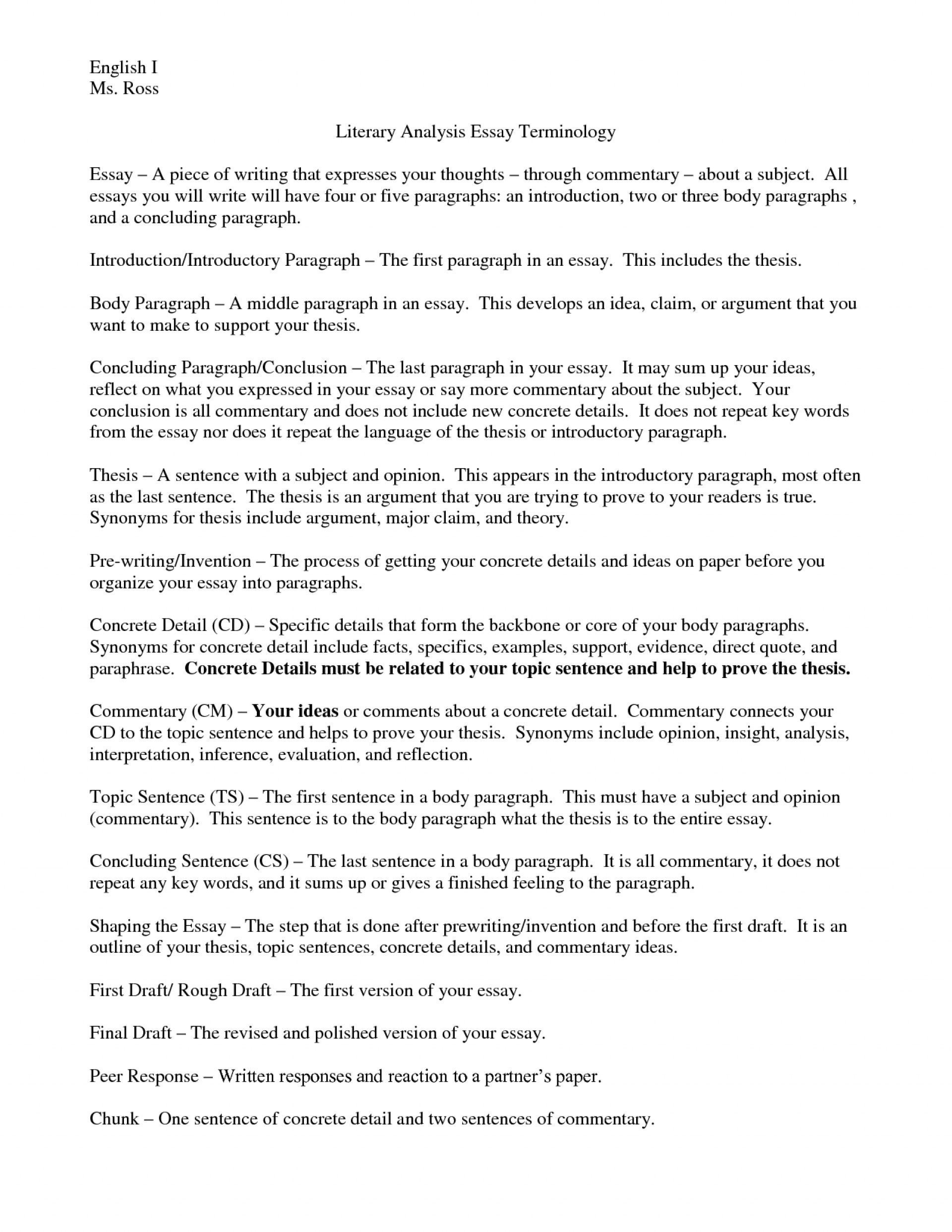 Science Essay Example  How To Write A Good Proposal Essay also Example Proposal Essay Writing An Introduction For A Literary Analysis Essay  Sample Essay For High School Students