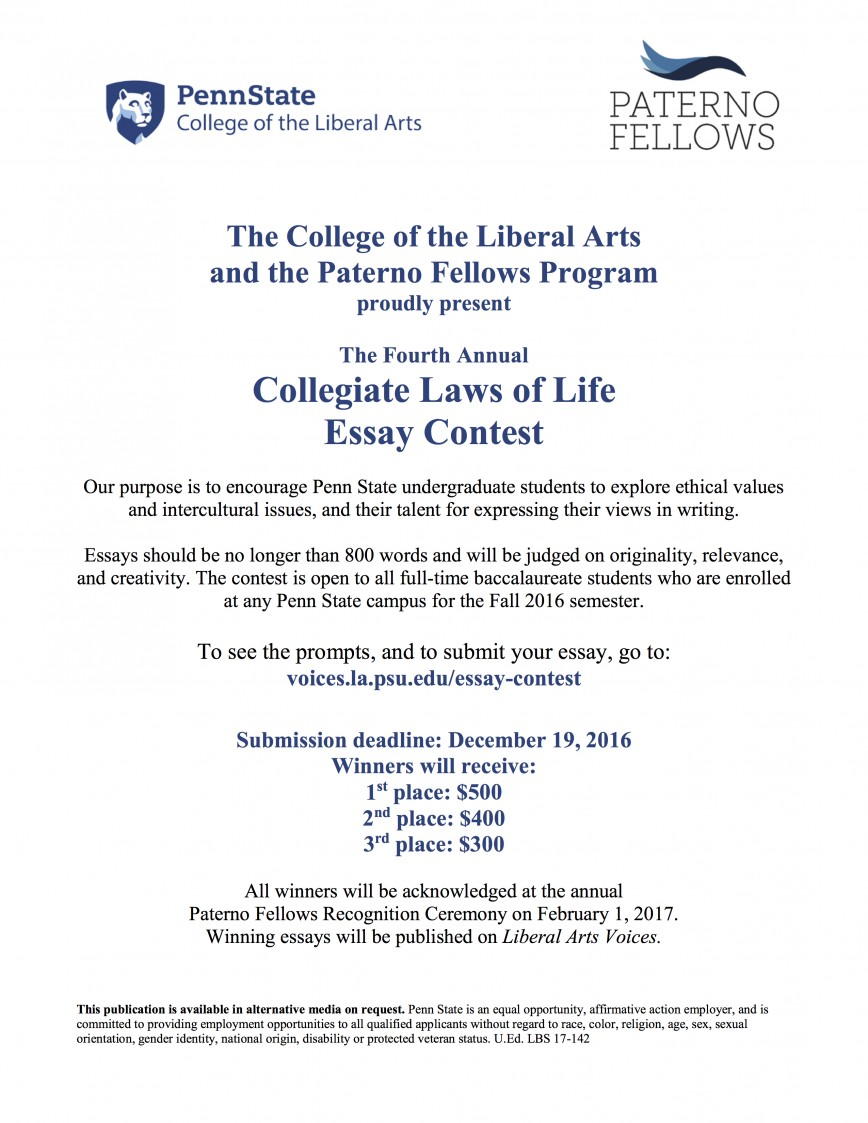 007 Essay Example Law Of Life Collegiate Laws Contest Awesome Collier County Topics