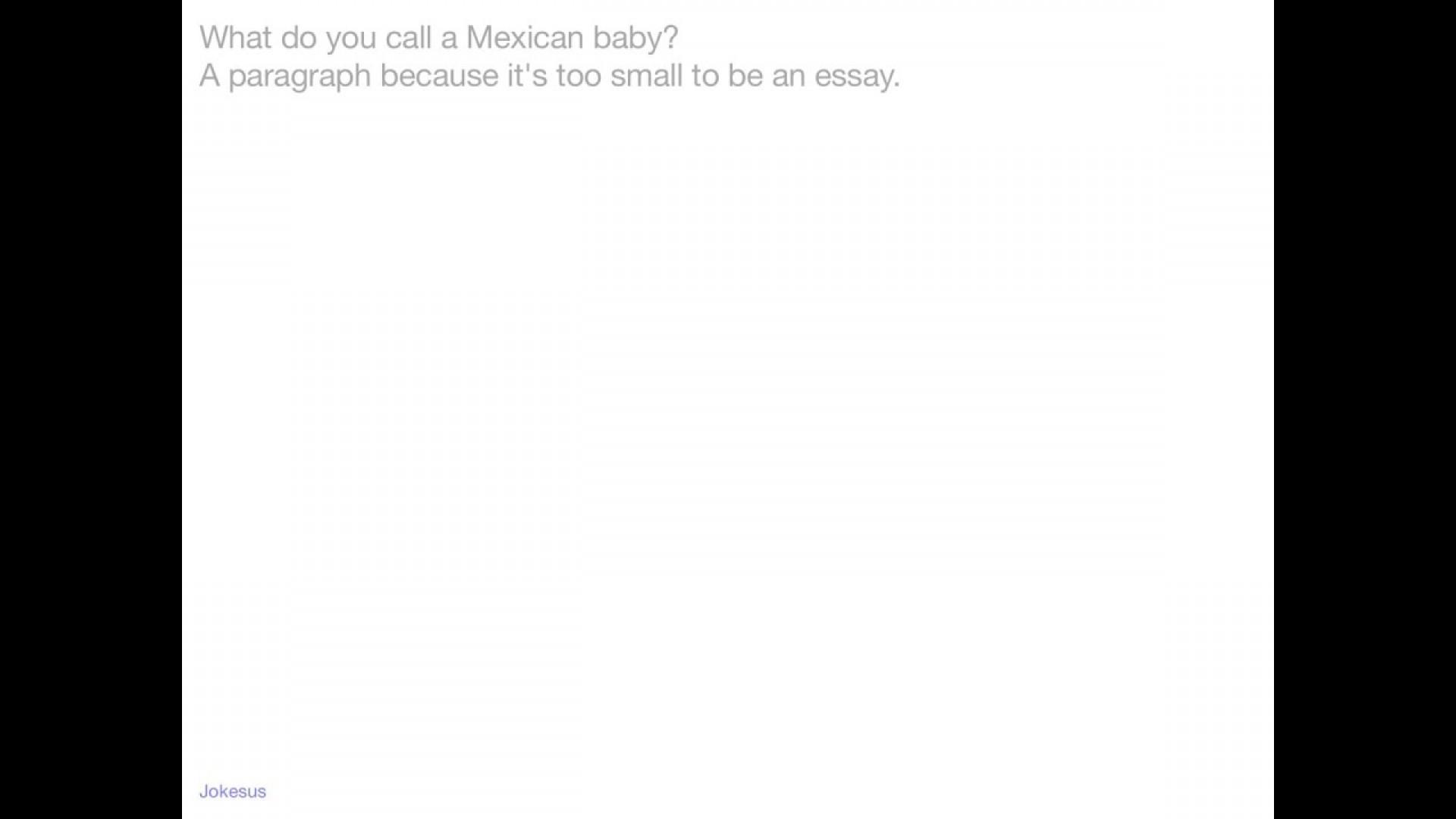 007 Essay Example Mexican Joke Impressive 1920