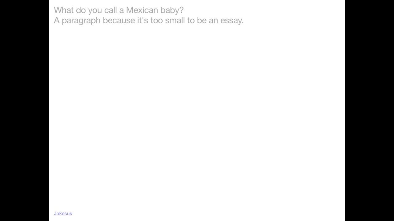 007 Essay Example Mexican Joke Impressive Full