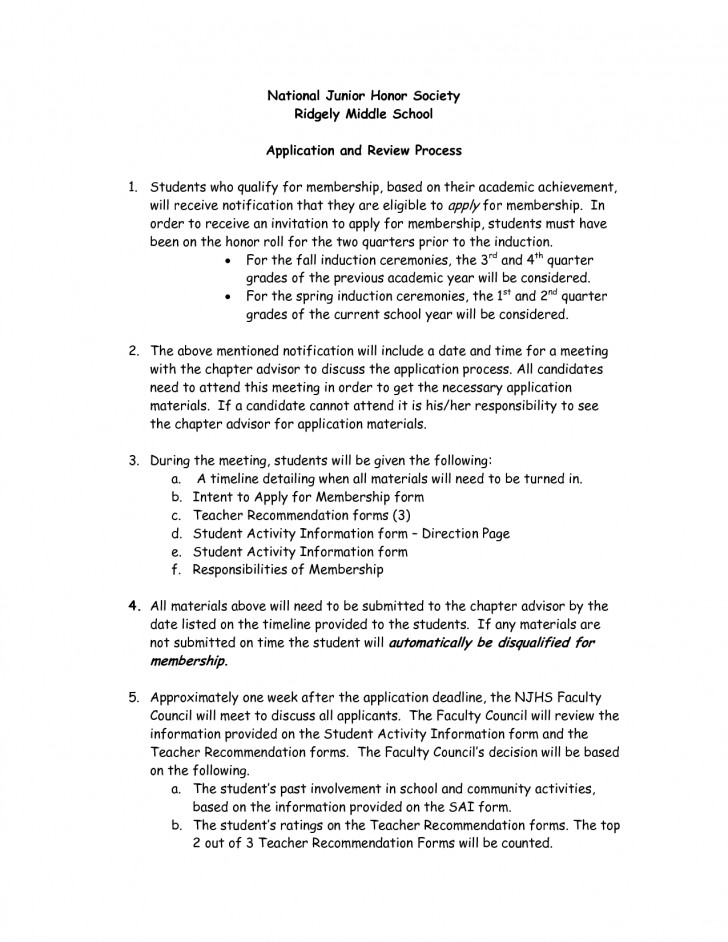 007 Essay Example Njhs Conclusion National Honors Society Examples Of Honor Junior Unique 728