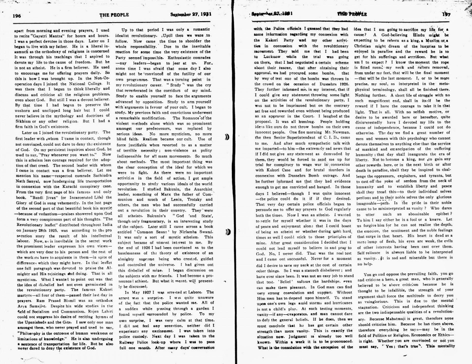007 Essay Example On Bhagat Singh In Marathi Why2bi2bam2ban2batheist2b2 Unique Short 100 Words 1920