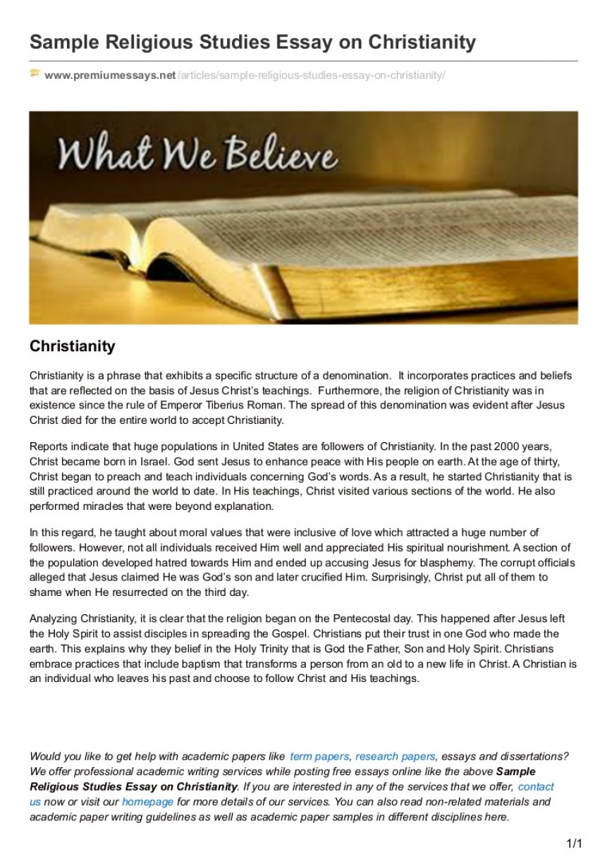 007 Essay Example On Christianity Premiumessays Thumbnail Frightening In English Religious India Beliefs And Practices
